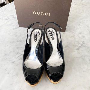 Gucci Peep Toe Wedge